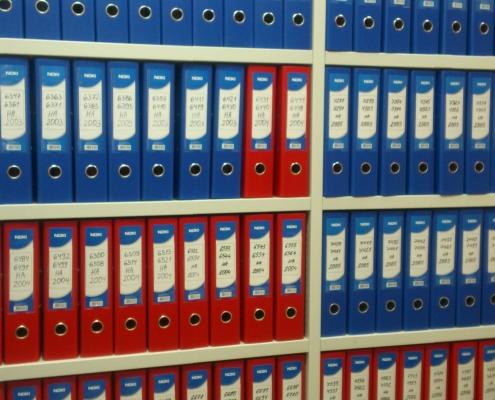 Подреждане на архиви и документи, организиране на архиви